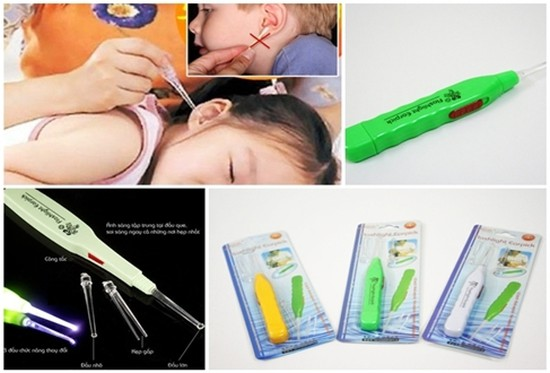 Dụng cụ lấy ráy tai có đèn dễ sử dụng, an toàn, tiện lợi cho gia đình - Chỉ với 42.000đ/3 chiếc