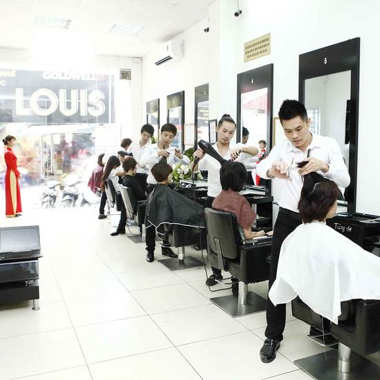 Trọn gói làm tóc tại Viện tóc Loius