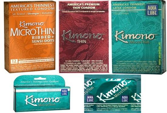 Bao cao su Kimono mỏng số 1 của Mỹ. Chỉ 192.000đ/hộp (12 chiếc)