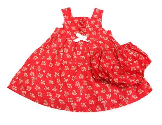 Váy thô hoa bi xòe, quần baby đáng yêu cho bé gái từ 02 - 05 tuổi chỉ với 70.000đ/bộ