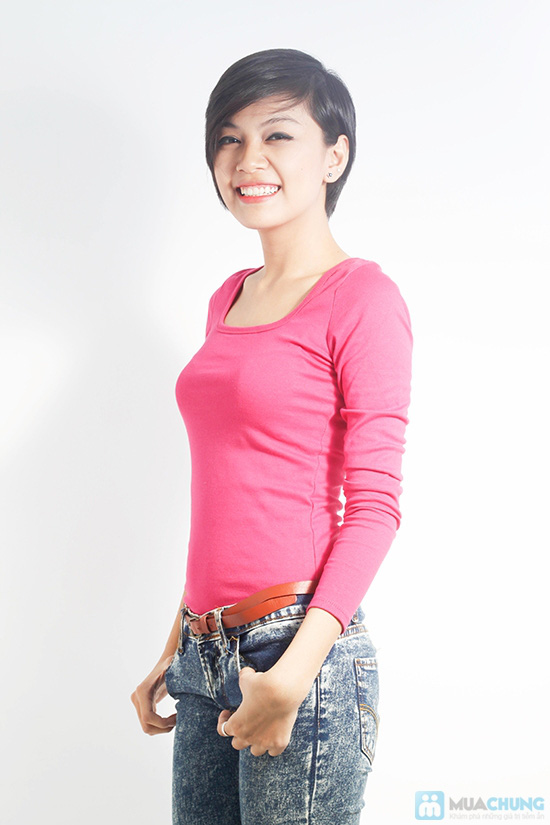 Áo thun nữ tay dài cho bạn phong cách trẻ trung và năng động - Chỉ 65.000đ/01 áo
