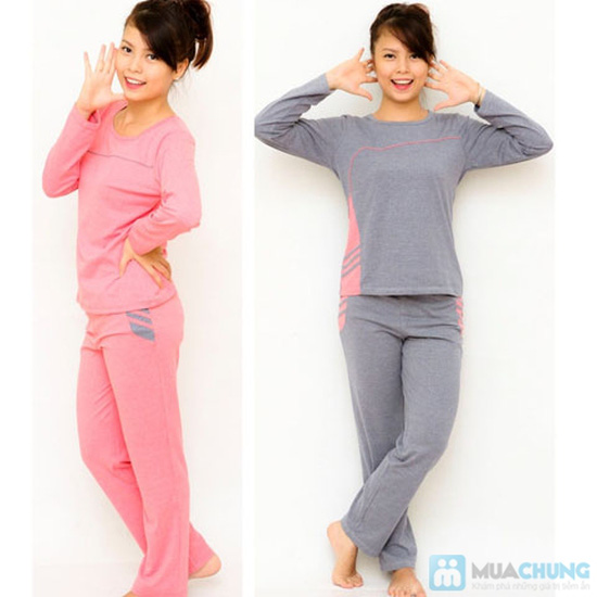 Bộ đồ mặc nhà Haprosimex (Có 2 màu hồng, ghi, hàng xuất Nhật) - 2