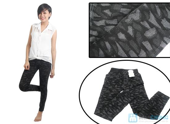 Quần legging giả jean hoa form dài - Phong cách sành điệu và độc đáo cho bạn gái - Chỉ 60.000đ/01 chiếc - 7