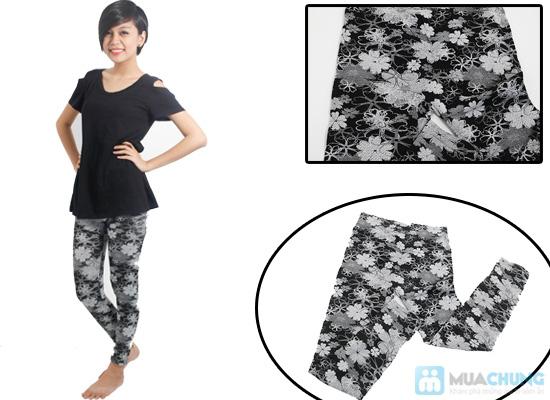 Quần legging giả jean hoa form dài - Phong cách sành điệu và độc đáo cho bạn gái - Chỉ 60.000đ/01 chiếc - 9