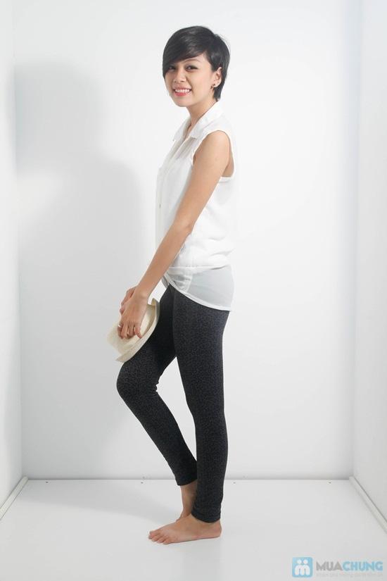 Quần legging giả jean hoa form dài - Phong cách sành điệu và độc đáo cho bạn gái - Chỉ 60.000đ/01 chiếc - 2