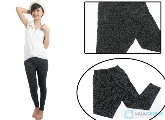Quần legging giả jean hoa form dài - Phong cách sành điệu và độc đáo cho bạn gái - Chỉ 60.000đ/01 chiếc - 10