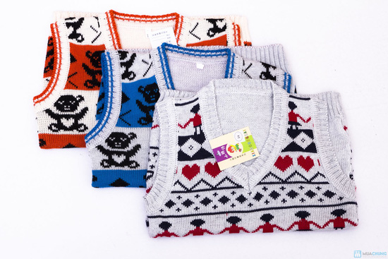 Combo 02 áo len gile cho bé trai - 1