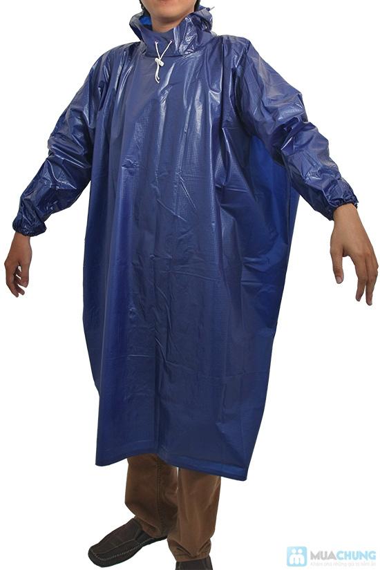 Áo mưa vải nhựa dày dặn, kín 2 bên hông, dài tay - An toàn, phơi mau khô, không bết dính - Chỉ 60.000đ/01 chiếc - 1
