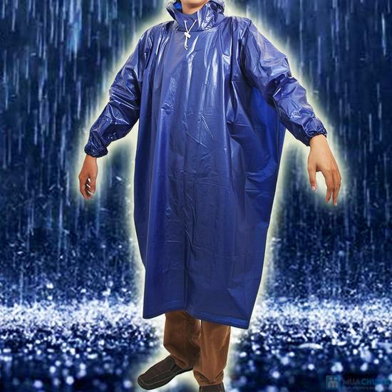Áo mưa vải nhựa dày dặn, kín 2 bên hông, dài tay - An toàn, phơi mau khô, không bết dính - Chỉ 60.000đ/01 chiếc - 5