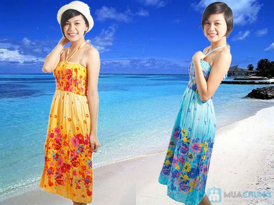 Tự tin đón nắng hè với đầm maxi dài 2 trong 1 dành cho bạn gái - Chỉ 95.000đ/ 01 chiếc - 3
