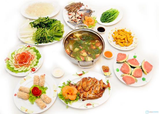 Lẩu hải sản chua cay, Gà nướng Phù Đổng.. cho 04 người tại Nhà hàng Phù Đổng Thiên Vương - Chỉ với 490.000đ - 1