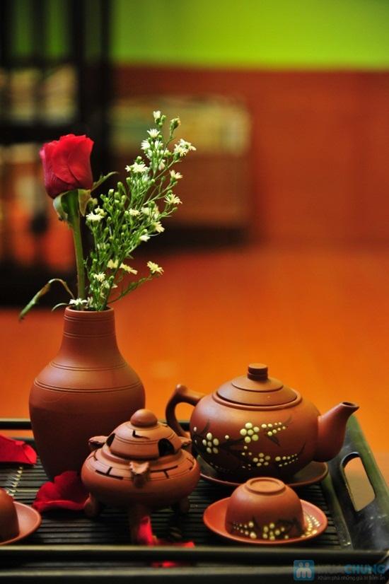 Combo ăn bánh-uống trà dành cho 2 người tại PQ trà quán - Chỉ 30.000đ - 13