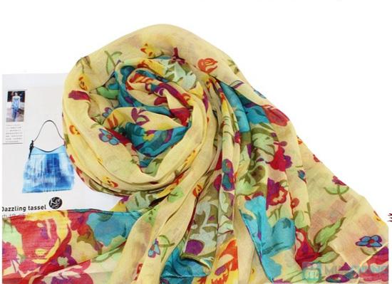 Trẻ trung với khăn hoa thời trang - Chỉ với 70.000đ - 4