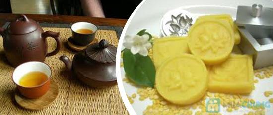 Combo ăn bánh-uống trà dành cho 2 người tại PQ trà quán - Chỉ 30.000đ - 2