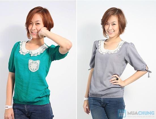Trẻ trung và nữ tính với áo sơ mi cổ ren xinh xắn dành cho bạn gái - Chỉ 85.000đ/01 chiếc - 6