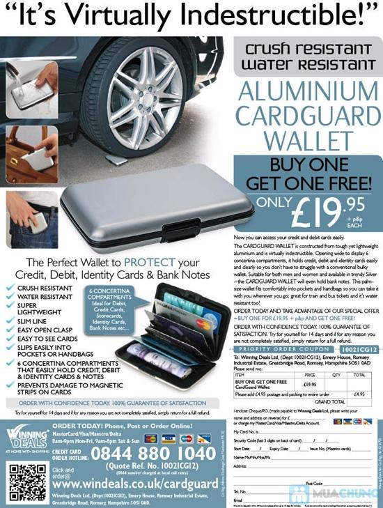 Ví nhôm Card-Guard - Vệ sỹ bảo vệ thẻ tín dụng, ATM, ID card, cardvisit.. cho bạn - Chỉ với 55.000đ - 6