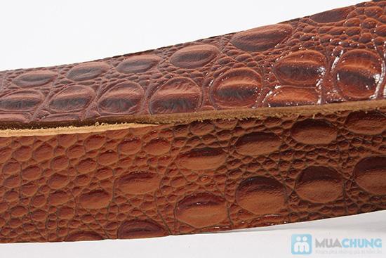 Lịch lãm, phong cách cùng thắt lưng da bò giả kiểu dáng da cá sấu - Chỉ 127.000đ - 4