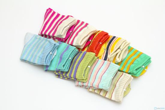 Combo 10 đôi tất kẻ sọc dành cho bé yêu từ sơ sinh đến 1 tuổi - 6