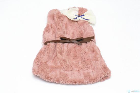 Váy lông sát nách cho bé ( TQ, 2 màu: hồng, kem) - 2