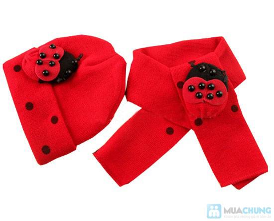 Bộ 01 khăn choàng + 01 nón - Chọ bé luôn ấp áp những lúc xuống phố - Chỉ 90.000đ/ 01 bộ - 1
