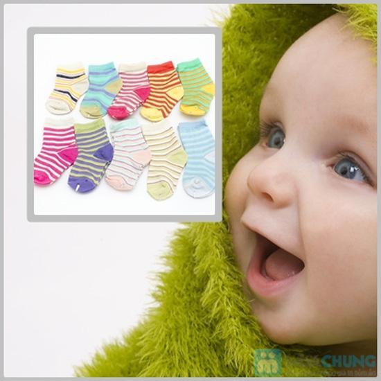 Combo 10 đôi tất kẻ sọc dành cho bé yêu từ sơ sinh đến 1 tuổi - 1