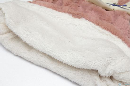 Váy lông sát nách cho bé ( TQ, 2 màu: hồng, kem) - 3