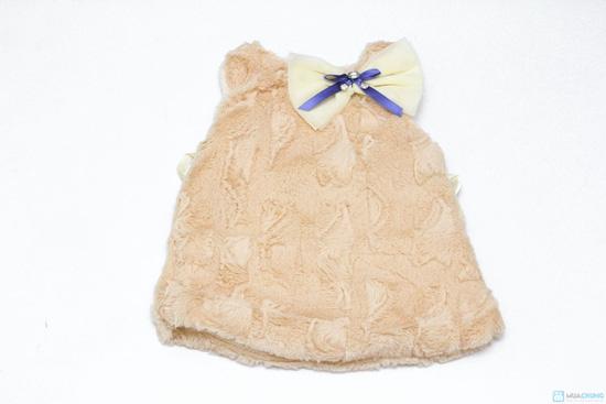 Váy lông sát nách cho bé ( TQ, 2 màu: hồng, kem) - 1