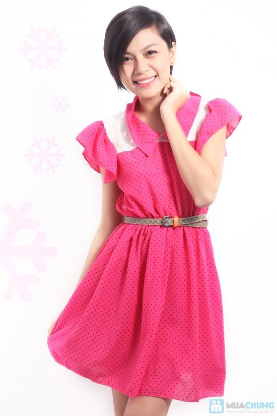 Nữ tính và sành điệu với đầm voan chấm bi thời trang dành cho bạn gái - Chỉ 115.000đ/01 chiếc - 2