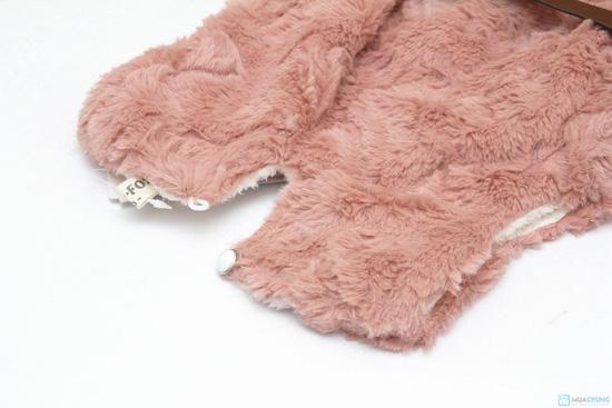 Váy lông sát nách cho bé ( TQ, 2 màu: hồng, kem) - 5