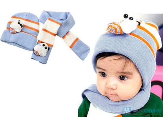 Bộ 01 khăn choàng + 01 nón - Chọ bé luôn ấp áp những lúc xuống phố - Chỉ 90.000đ/ 01 bộ - 3