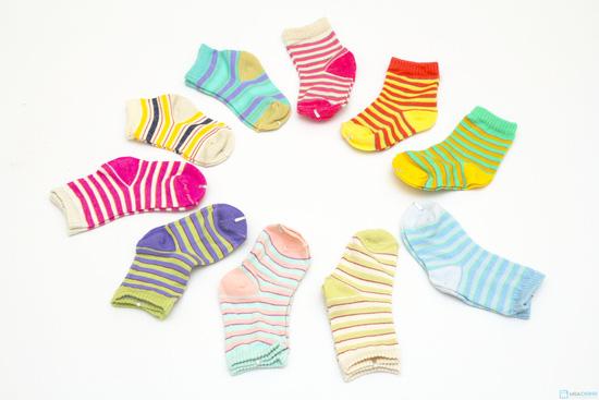 Combo 10 đôi tất kẻ sọc dành cho bé yêu từ sơ sinh đến 1 tuổi - 2
