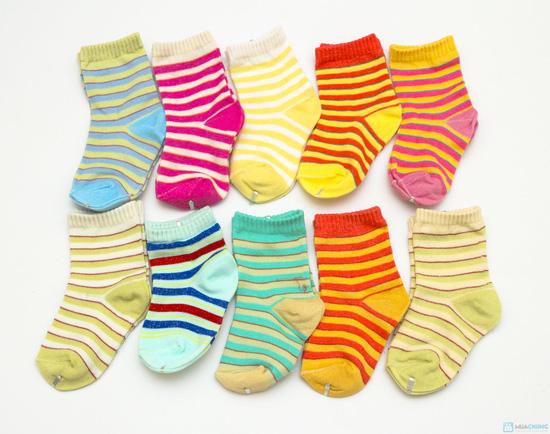 Combo 10 đôi tất kẻ sọc dành cho bé yêu từ sơ sinh đến 1 tuổi - 3