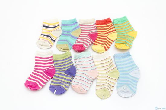 Combo 10 đôi tất kẻ sọc dành cho bé yêu từ sơ sinh đến 1 tuổi - 5