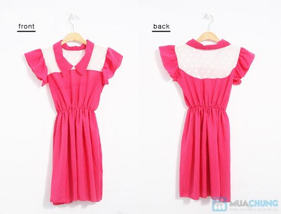 Nữ tính và sành điệu với đầm voan chấm bi thời trang dành cho bạn gái - Chỉ 115.000đ/01 chiếc - 8
