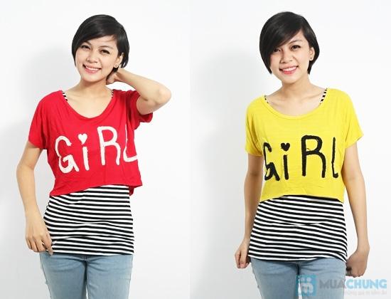 Combo áo lửng Crop top và áo sọc bên trong phong cách cho bạn gái - Chỉ 89.000đ/01 combo - 8
