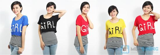 Combo áo lửng Crop top và áo sọc bên trong phong cách cho bạn gái - Chỉ 89.000đ/01 combo - 11
