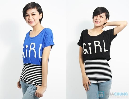 Combo áo lửng Crop top và áo sọc bên trong phong cách cho bạn gái - Chỉ 89.000đ/01 combo - 7