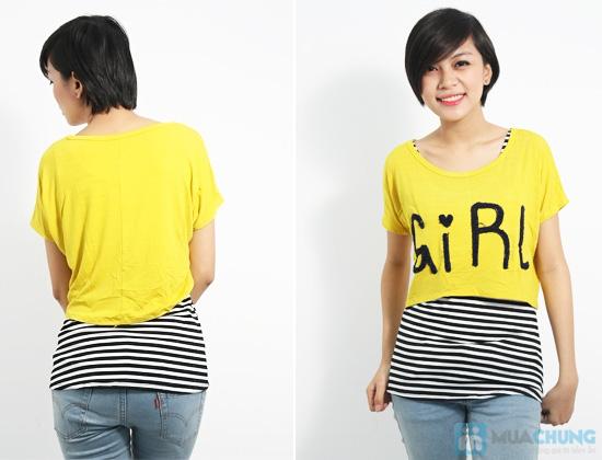 Combo áo lửng Crop top và áo sọc bên trong phong cách cho bạn gái - Chỉ 89.000đ/01 combo - 6