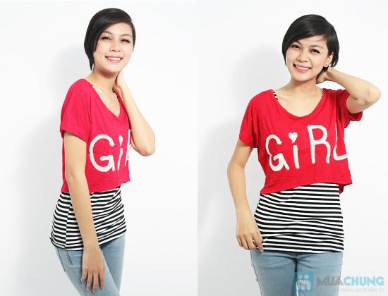 Combo áo lửng Crop top và áo sọc bên trong phong cách cho bạn gái - Chỉ 89.000đ/01 combo - 10
