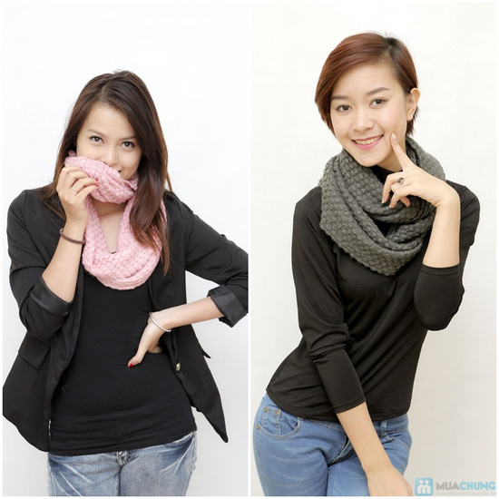 Combo 2 khăn ống len sành điệu - 7