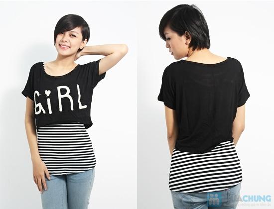 Combo áo lửng Crop top và áo sọc bên trong phong cách cho bạn gái - Chỉ 89.000đ/01 combo - 5