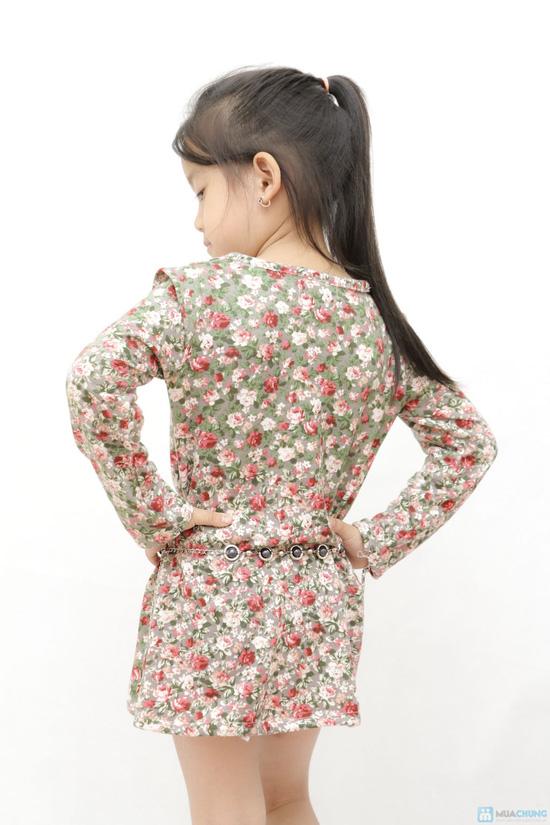 Combo 02 váy len họa tiết da báo cho bé - 4