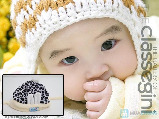 Bé yêu thật dễ thương với mũ nỉ xinh xắn - Giữ ấm những ngày mùa đông - Chỉ 75.000đ/ 02 chiếc - 4