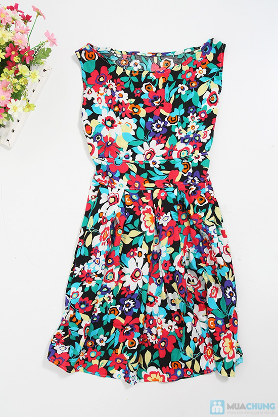 Đầm hoa chữ A nổi bật, duyên dáng - Chỉ 90.000đ/01 chiếc - 2