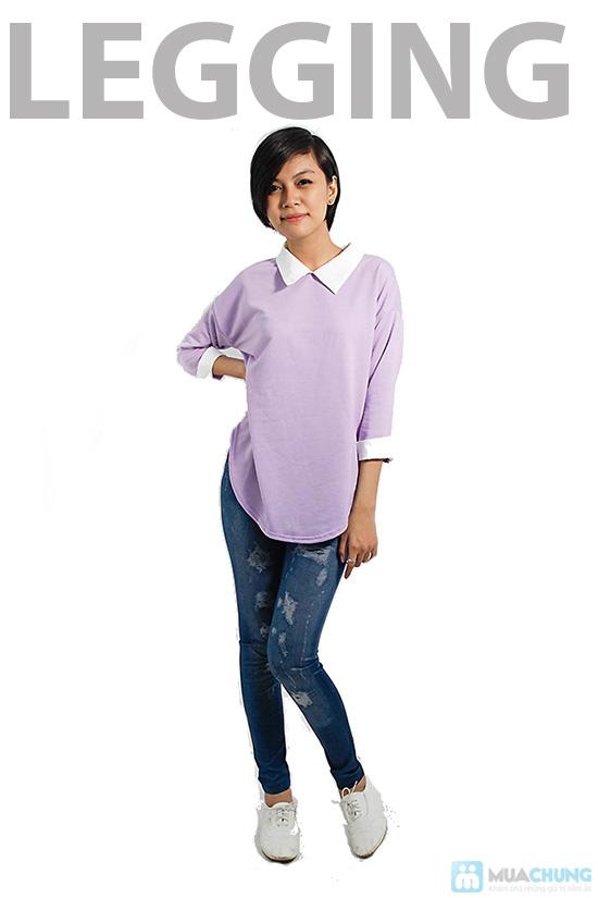Quần legging giả Jeans rách - Chỉ 75.000đ/01 chiếc - 5
