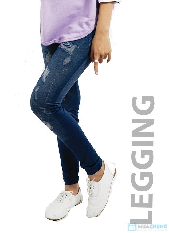 Quần legging giả Jeans rách - Chỉ 75.000đ/01 chiếc - 2