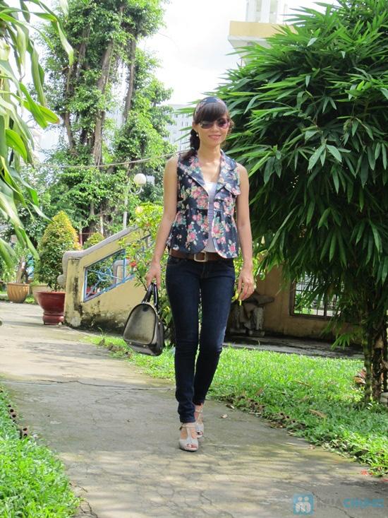 Áo khoác giả Jeans + băng đô - Chỉ 110.000đ - 1