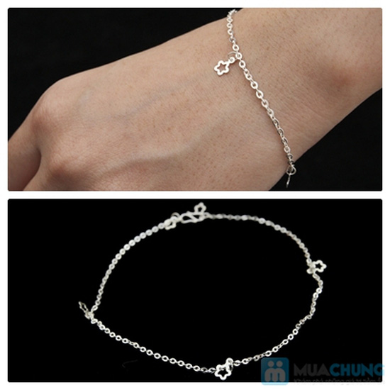 Lắc bạc đeo tay - Bạc 925 cao cấp- CHo bạn gái thêm sang trọng và tự tin - Chỉ với 80.000đ - 3