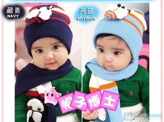 Bộ 01 khăn choàng + 01 nón - Vừa xinh xắn vừa giữ ấm cho bé trong những ngày se lạnh - Chỉ 75.000đ/ 01 bộ - 1