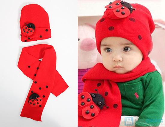 Bộ 01 khăn choàng + 01 nón - Vừa xinh xắn vừa giữ ấm cho bé trong những ngày se lạnh - Chỉ 75.000đ/ 01 bộ - 4